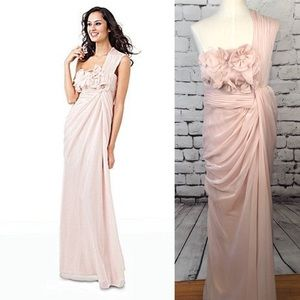 Adrianna Papell for E! One Shoulder Pink Gown